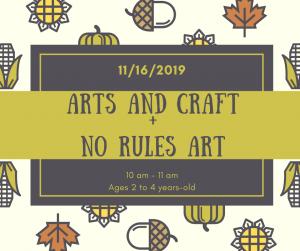 Preschool Arts and Craft + No Rules Art